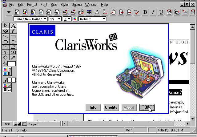 ClarisWorks 5.0 (Windows)