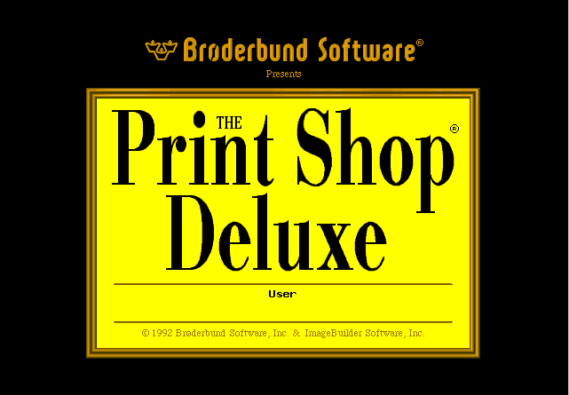 The Print Shop Deluxe (DOS)