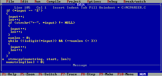 Turbo C 2.01 (DOS)