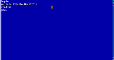 Turbo Pascal 7.0 (DOS)